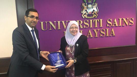 الملحق الثقافي يزور جامعة العلوم الماليزية بولاية بينانج